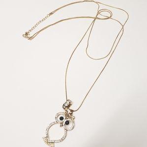 Unique Crystal Owl Necklace
